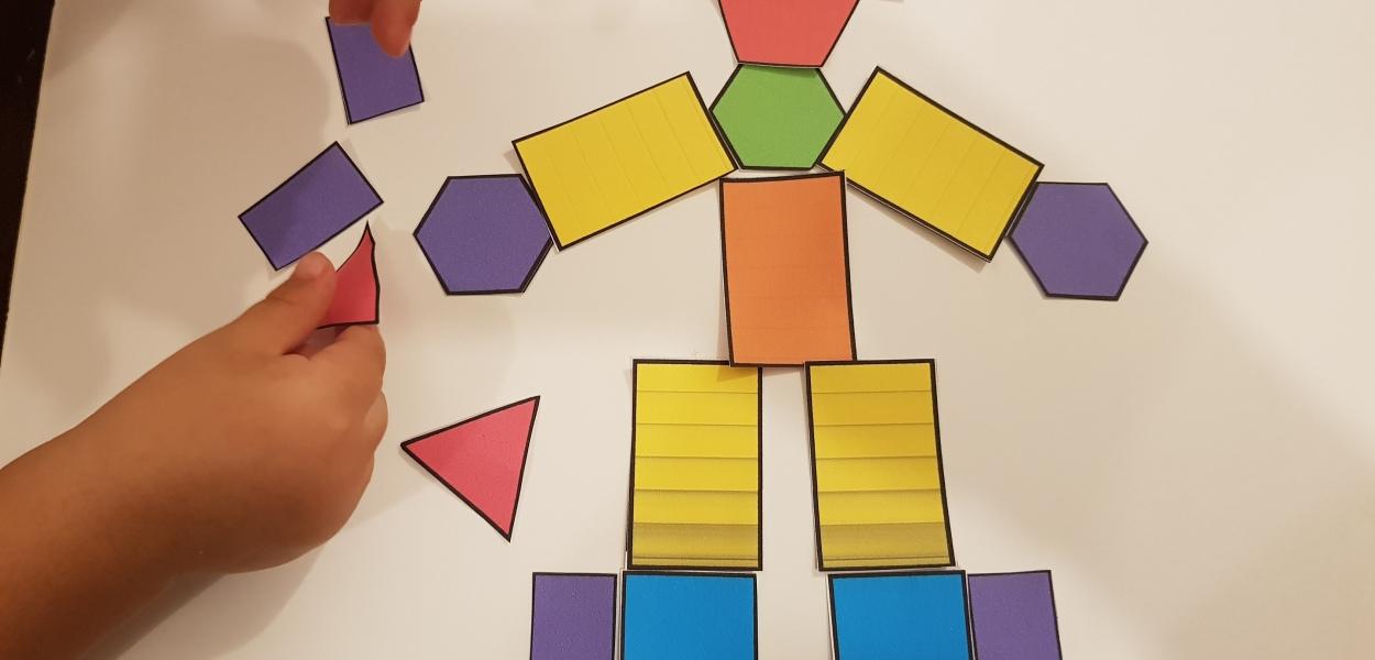 Geometrische Formen: Kreis, Quadrat, Dreieck, Viereck, Trapez - alle Formen in einem Set