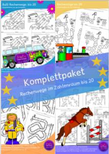 Komplettpaket Rechenwege 20