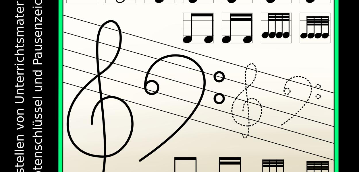 Selbst Material für den Musikunterricht gestalten mit diesen Bilddateien