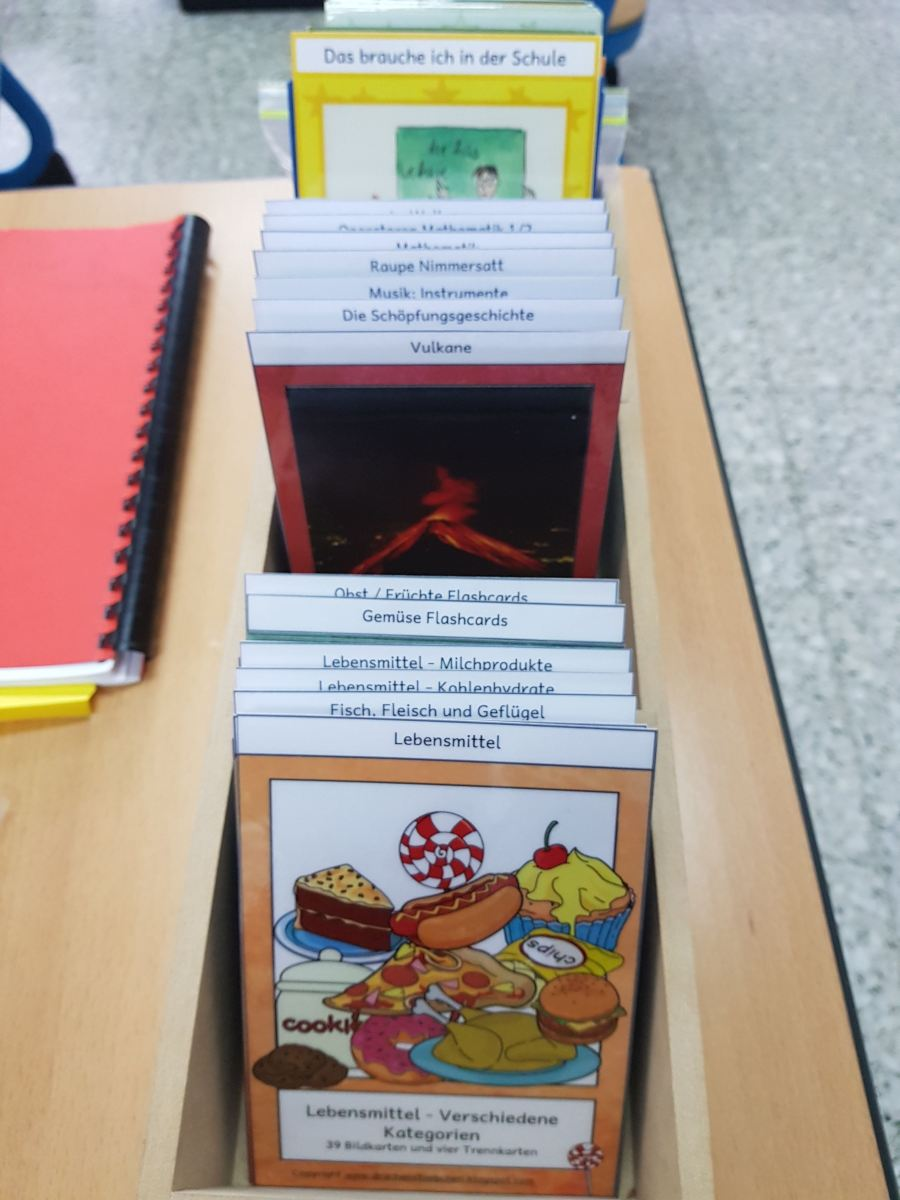Bild-Wortkarten in Schülergröße - dauerhaft gratis