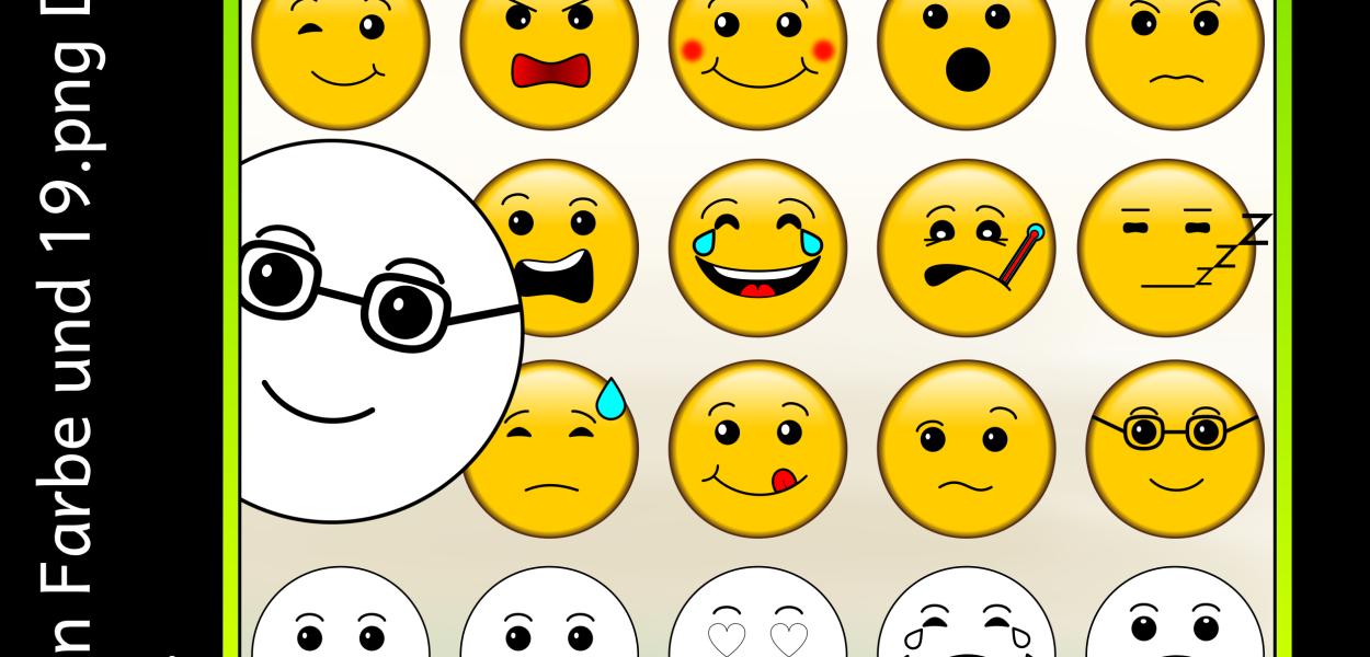 Emoticon Clipart Bilder mit verschiedenen Stimmungen