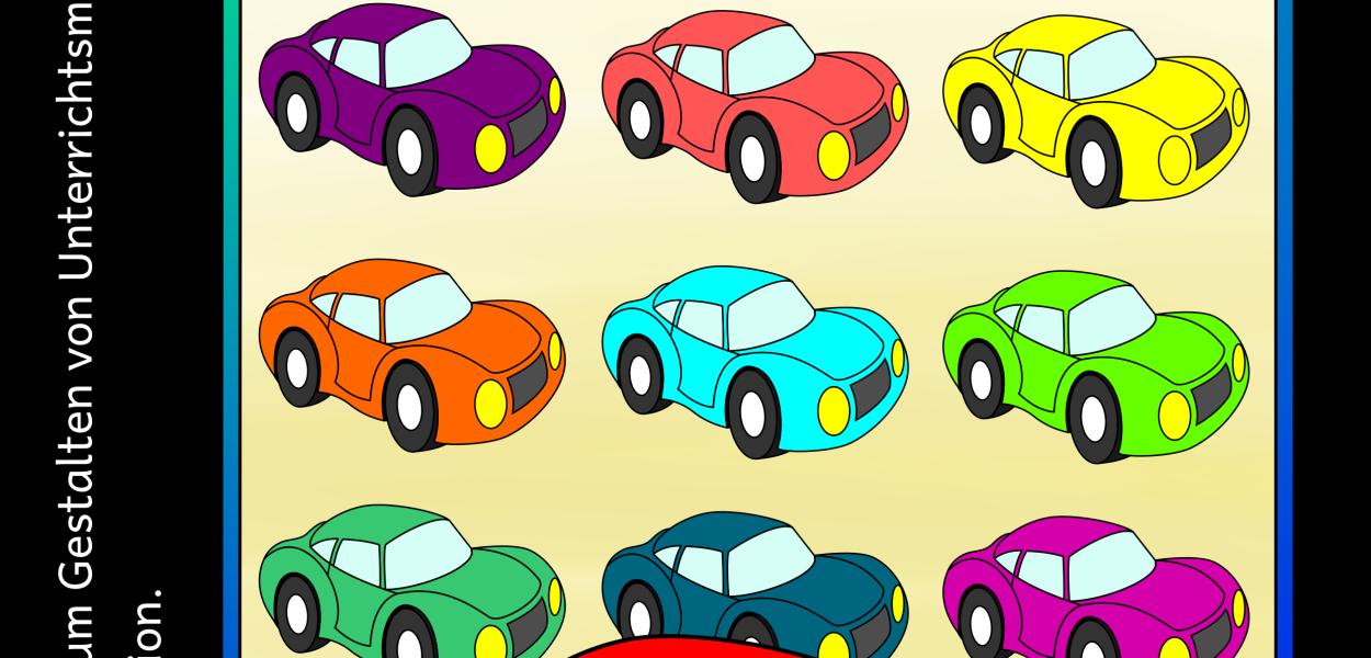 Auto Cliparts zum Erstellen von Unterrichtsmaterial