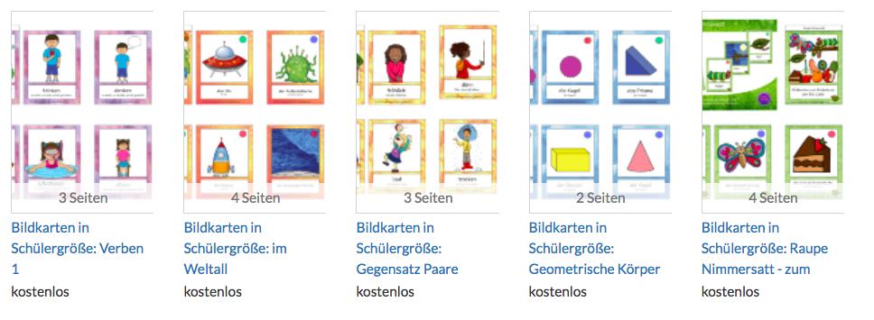 Mini Flashcards zum Vokabeln lernen für Deutsch als Zweitsprache oder Deutsch als Fremdsprache