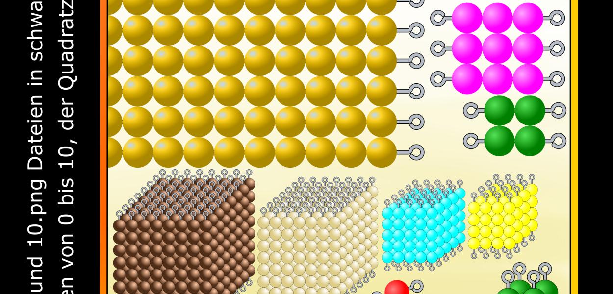 40 Grafikdateien im .png Format von Perlen für Zah