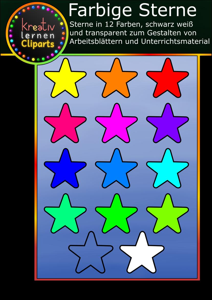 Nutze diese Sternchen zum Erstellen von Material, zum Dekorieren in deiner Klasse, als Token für dein Bonuspunkte System und für alles, was dir sonst noch einfällt.
