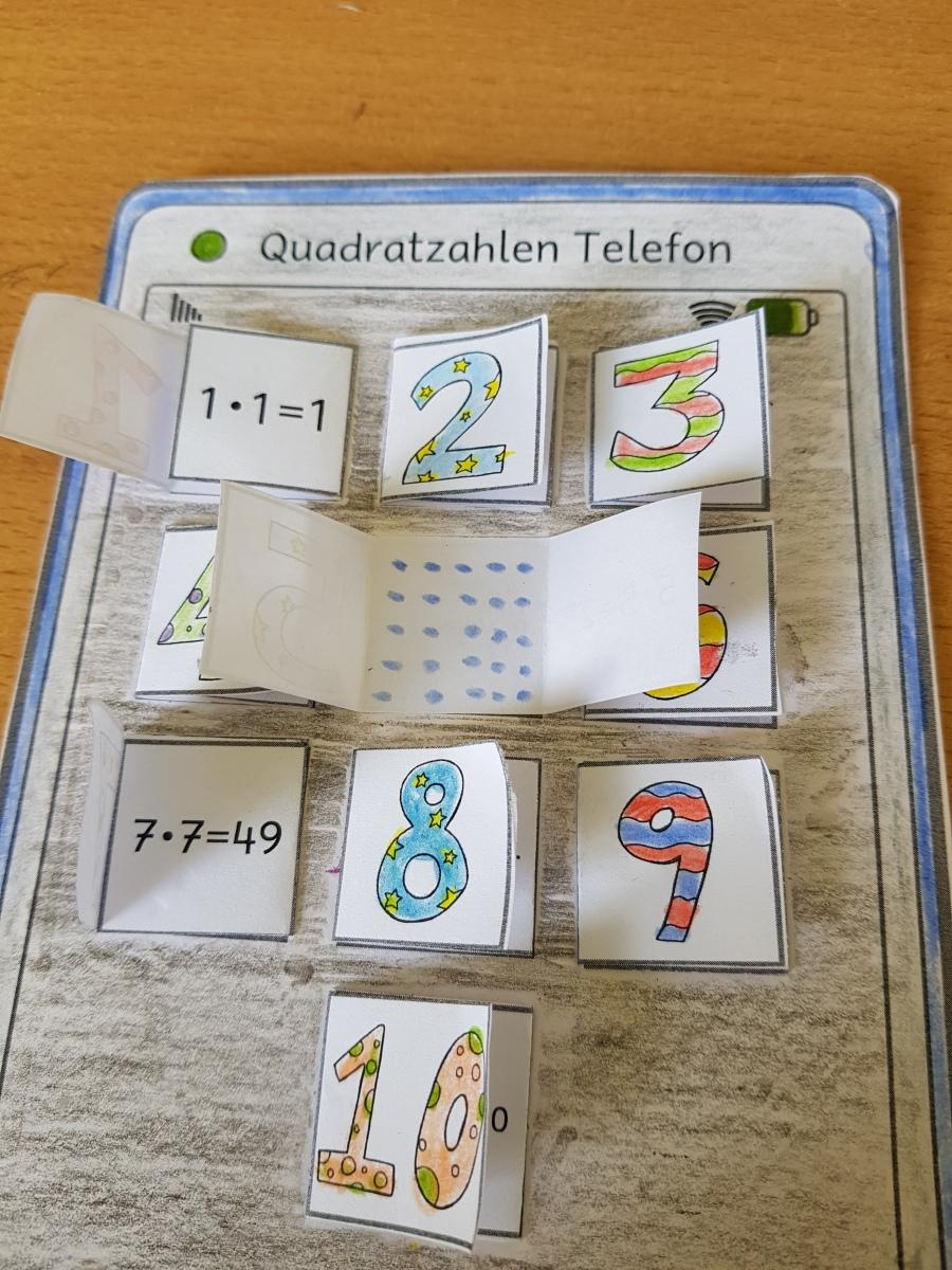 Quadratzahlen Telefon
