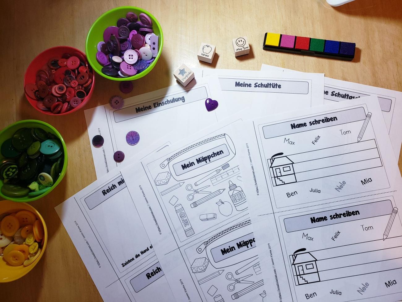 Diese Aufgaben für die ersten Schultage können alle Schüler bewältigen und mit Freude in die erste Klasse einsteigen.