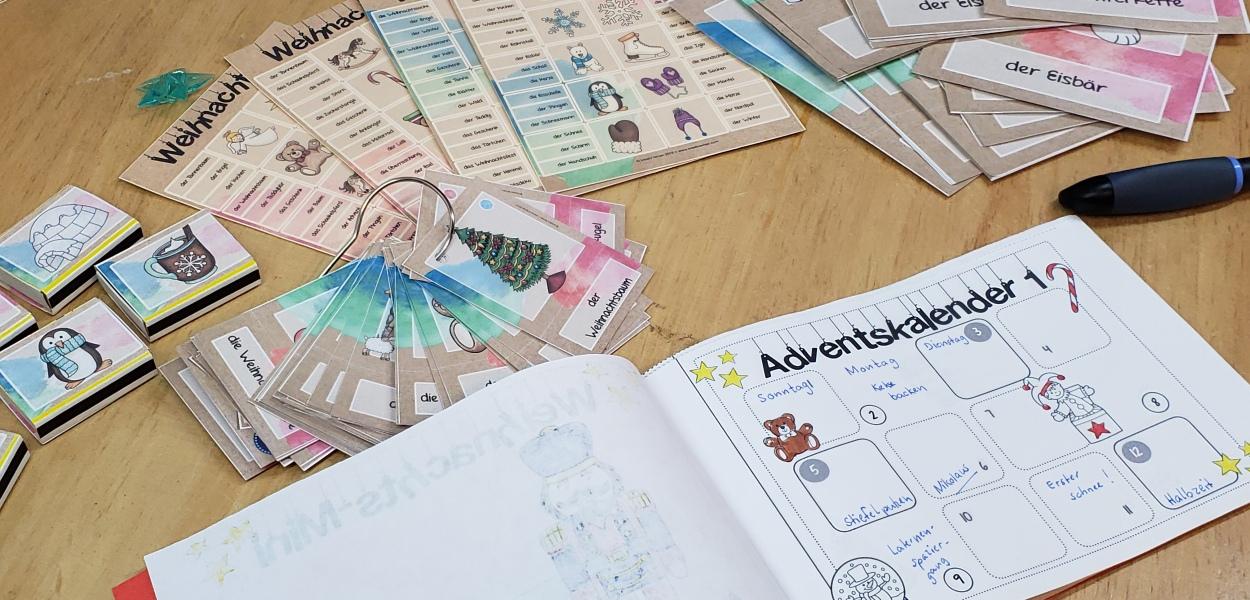 Weihnachtliches Unterrichtsmaterial für Deutsch in der Grundschule