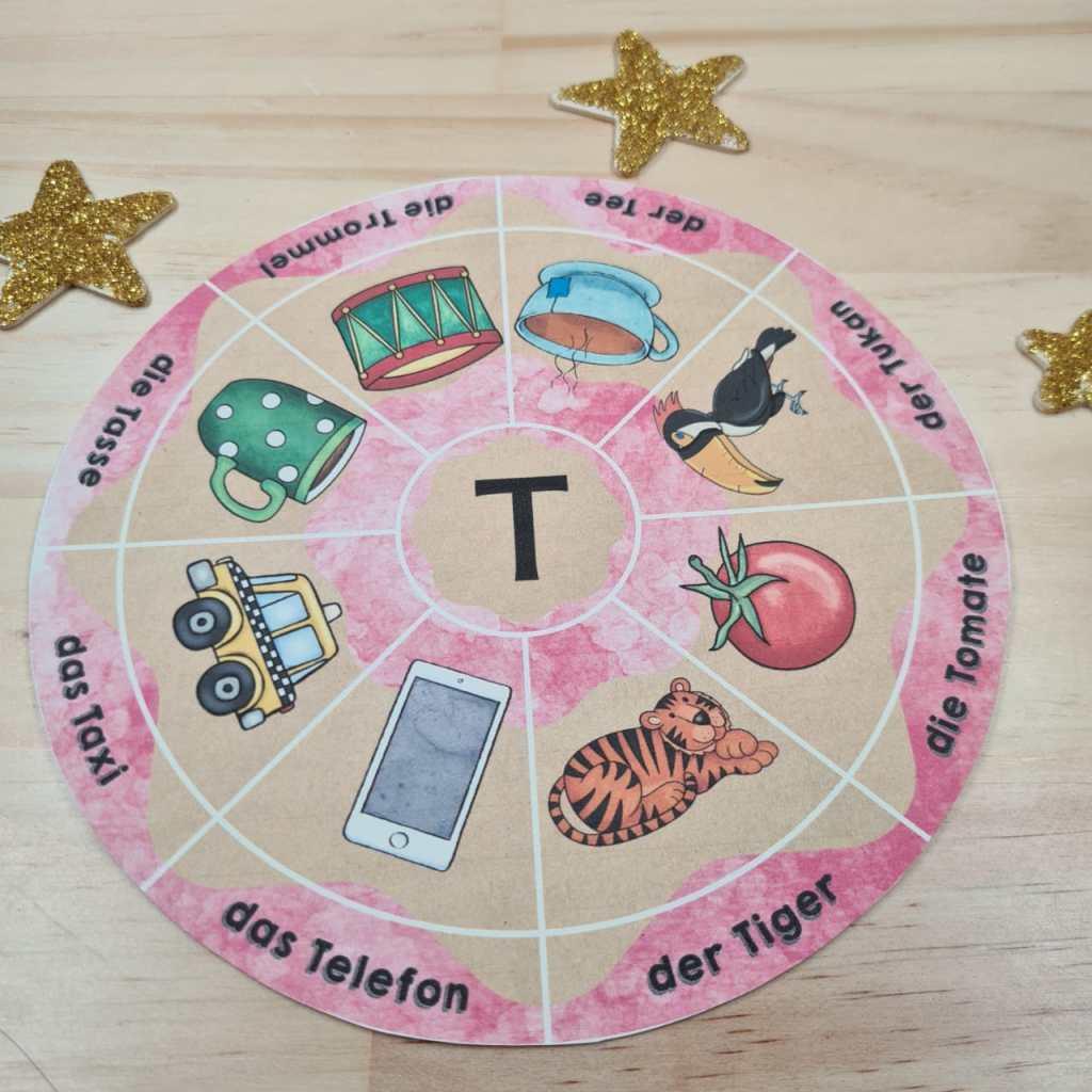 Legekreise zu den Buchstaben von A bis Z. Für Erstleser der ersten Klasse. Ideal für den Anfangsunterricht Deutsch. Auch im Distanzunterricht verwendbar.
