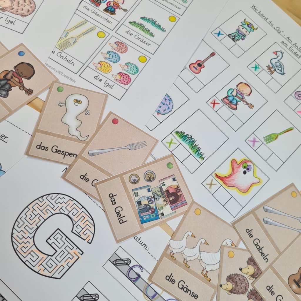 Kopiervorlagen für den Schreiblehrgang auch für den Distanzunterricht und das Üben zu Hause. Arbeitsblätter mit Vokabular für alle Buchstaben.